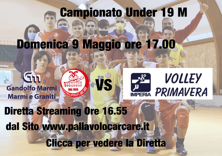 under 19 m 2020 2021 carcare vs volley primavera